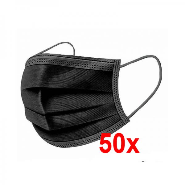 Crna jednokratna higijenska maska – fotografija za web shop